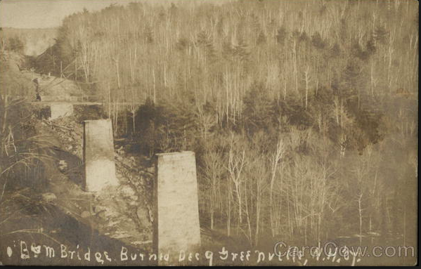 Greenville Trestle after fire