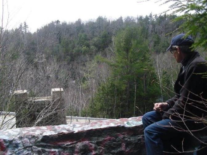 Tim at the east abutment of the Greenville Trestle.